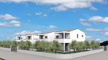 Project with new houses in a row near Poreč